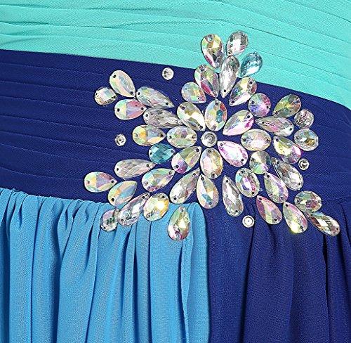 Túnica Para Bloques Azul Color Vestido Missfox De Sin Mujer Tirantes Rdiamante Cw06wq54p