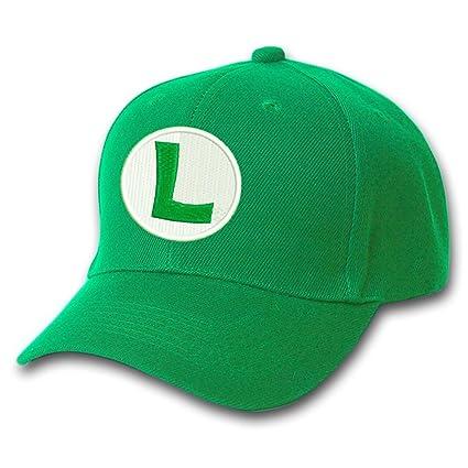 5a0217dd4fe Amazon.com  SUPER MARIO LUIGI Bros Logo Embroidery Baseball Cap ...
