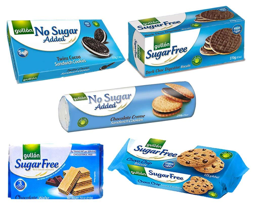 Gullon Sugar Free Biscuits - Chocolate Selecion - x 5 Packs