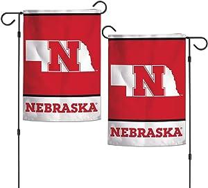 "WinCraft NCAA Nebraska Cornhuskers 12.5"" x 18"" Inch 2-Sided Garden Flag Logo"
