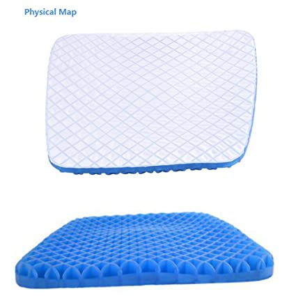 Cojín para asiento ortopédico Cojín para asiento ergonómico cojín para sillas oficina cojín con gel terapéutico ...