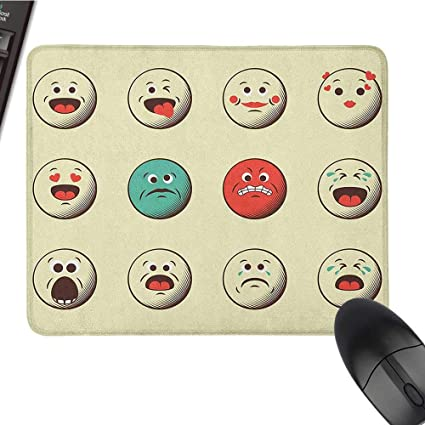 Amazon com : pad for Mouse Emoji, Cartoon Like Vintage Old