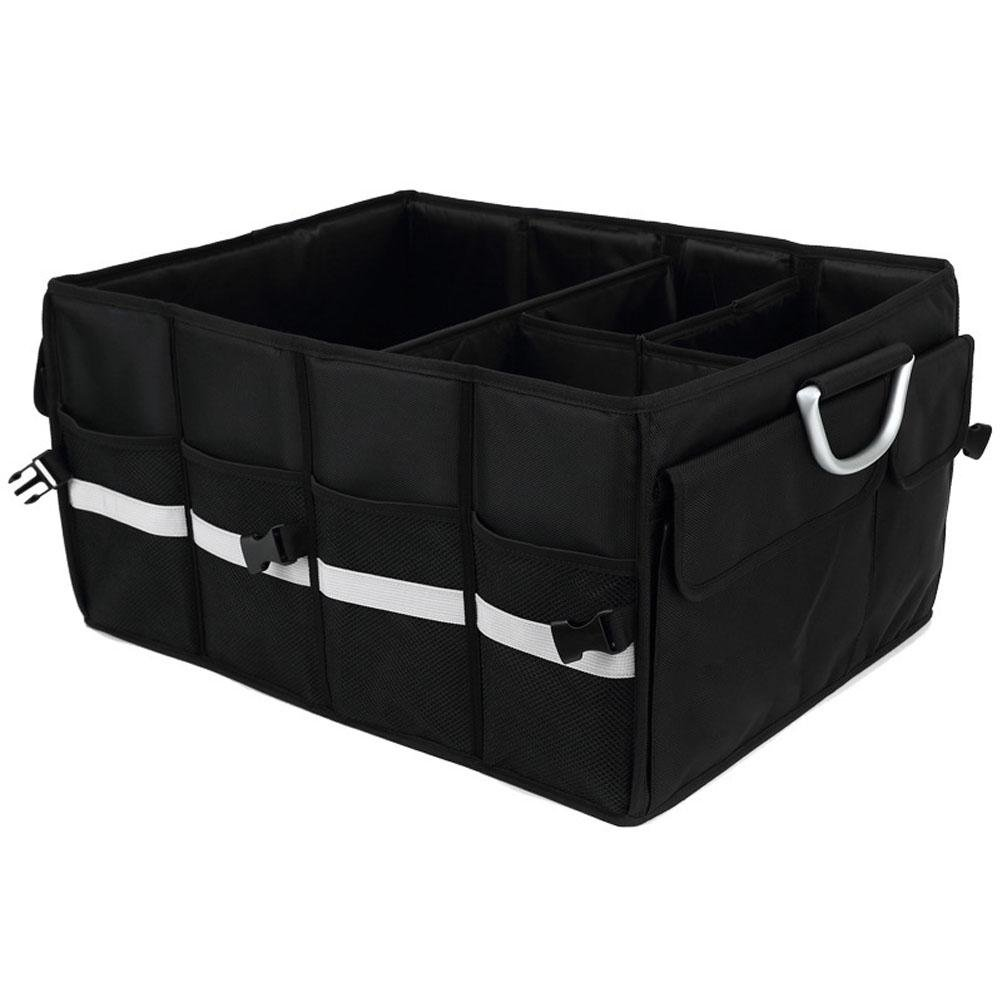 MQYH@ 2 In 1 Car Boot Storage Organiser,Foldable Storage Boot Organiser Box,Trunk Organizer,Folding Car Organiser,Collapsible Shopping Travel Holder for Car, Minivan, Truck & Indoor Uses Black