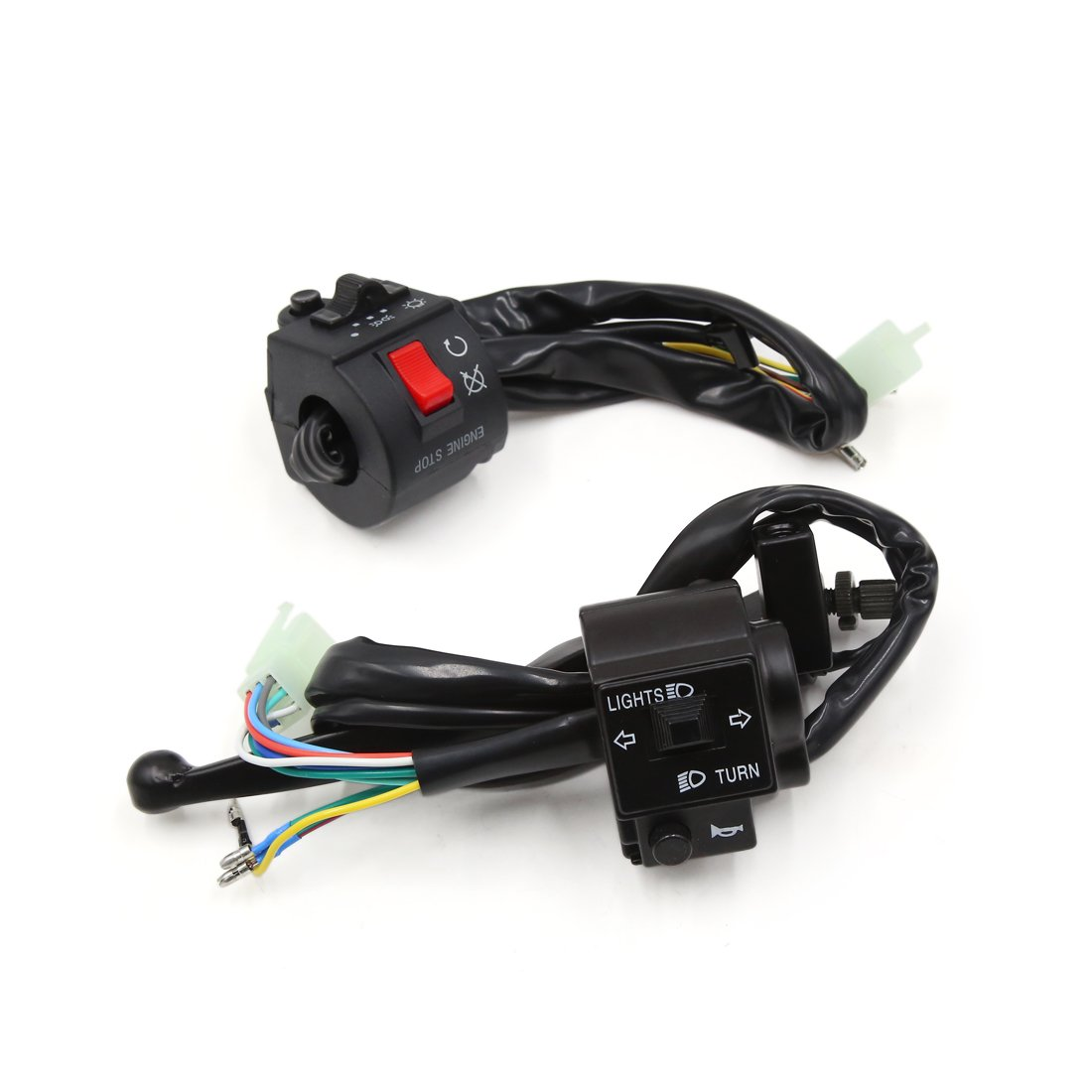 uxcell 2 Pcs Motorcycle Handlebar Turn Signal Light Button Headlight Switch for Suzuki