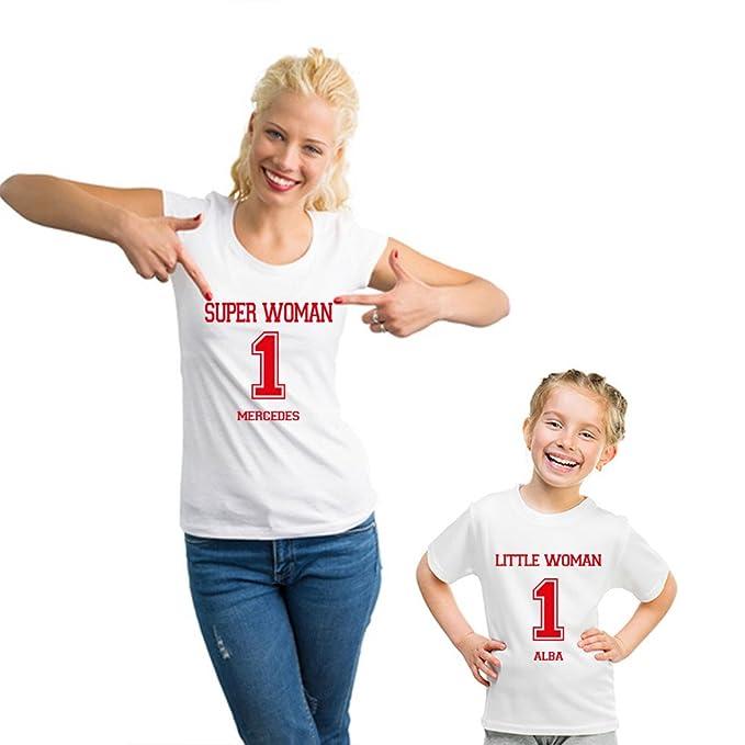 80dcef1908b Regalo Personalizable para Madres: Pack de Camiseta para Mamá + Camiseta  para Hijo/a o