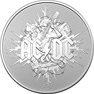 2021 AU Modern Commemorative PowerCoin ACDC 1 Oz Silver Coin 1$ Australia 2021 1 Oz BU Brilliant Uncirculated