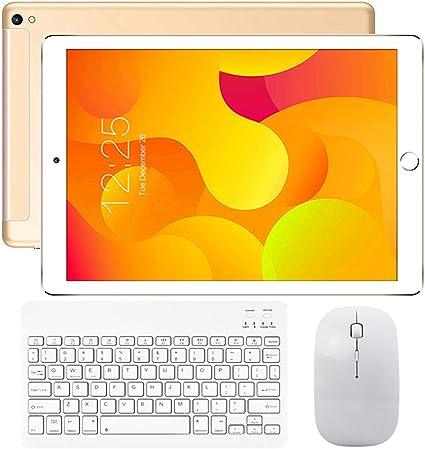 Tableta 10.1 Pulgadas Pantalla HD IPS Android 9.0 - Tablet 4G con Teclado 2 Ranuras para Tarjetas SIM 3GB RAM 32GB de Memoria Quad Core Batería 8000mAh - Soporte Netflix, WiFi, Bluetooth,