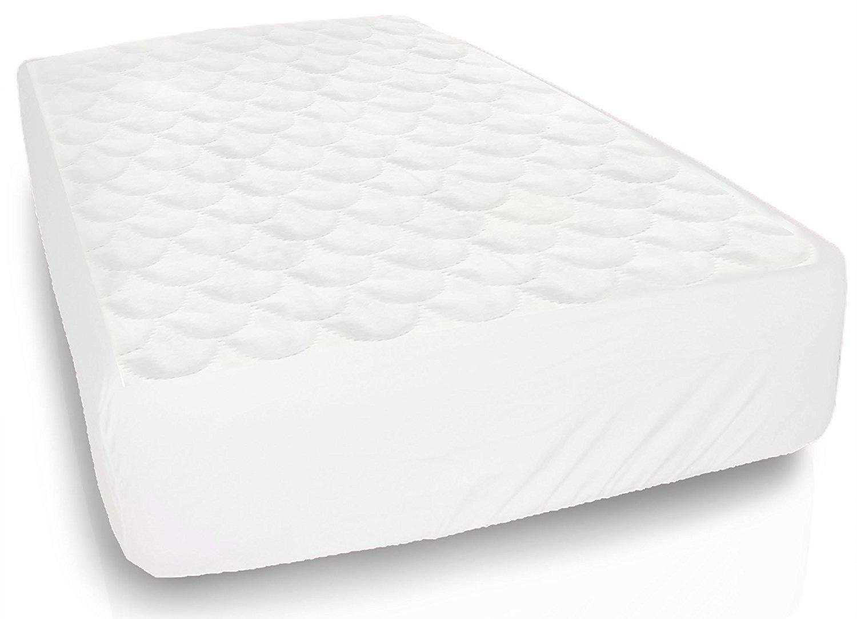 Equinox Baby Crib Mattress Protector - 28'' x 52'' - Waterproof Fitted Crib Mattress Pad Cover, White
