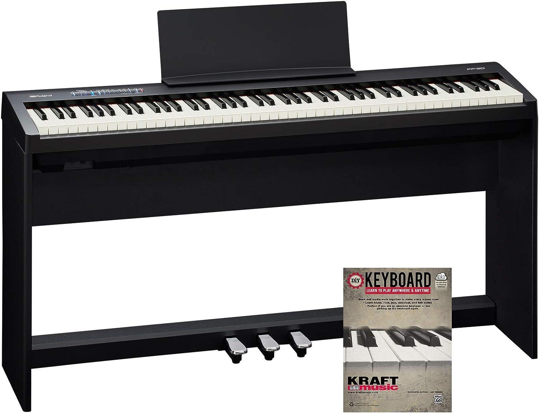 Roland FP-30 Piano digital con soporte KSC70BK, pedal triple ...