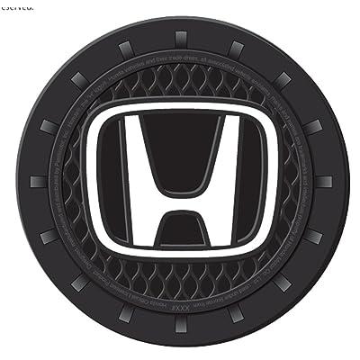 Plasticolor 000675R01 Honda Auto Car Truck SUV Cup Holder Coaster 2-Pack: Automotive