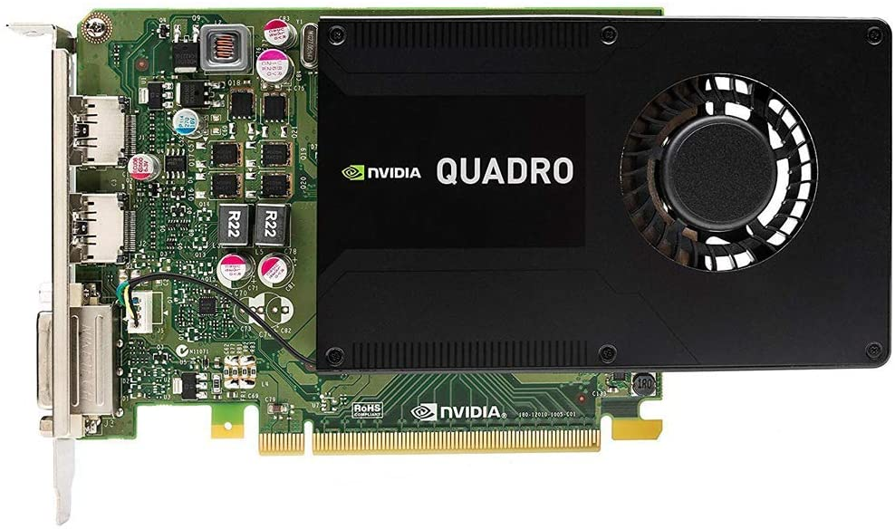 Dell Nvidia Quadro K2200 4GB GDDR5 Dual DisplayPort + 1x DVI PCI-e Video Card GMNNC (Renewed)