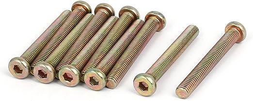 uxcell M8 x 60mm Fully Thread Hex Socket Drive Flat Head Screws Bolts Fasteners 10PCS