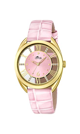 Lotus 18225/1 - Reloj de Pulsera Mujer, Cuero, Color Rosa: Amazon.es: Relojes