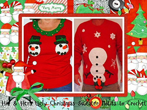 His and Her Ugly Christmast Sweater Motifs to Crochet