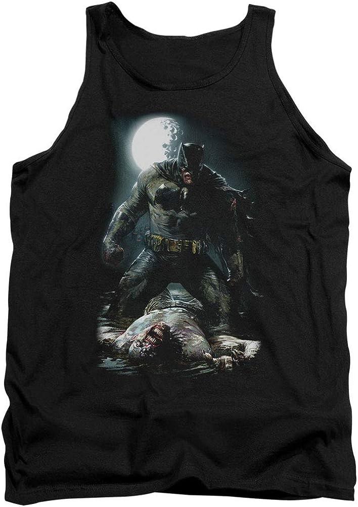 Batman Mudhole Adult Tank Black Black