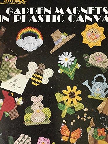 Garden Magnets in Plastic Canvas Leaflet 1554