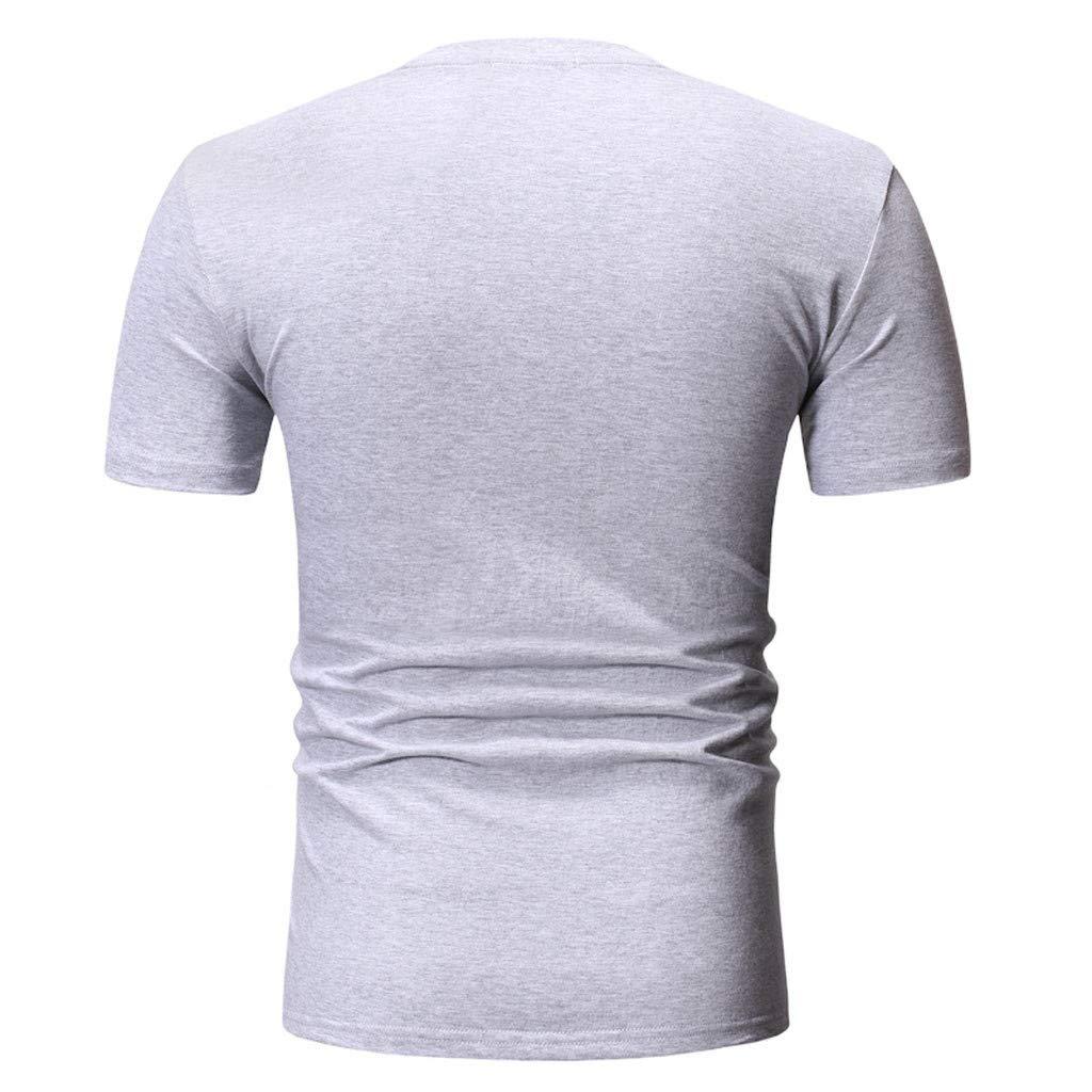 Yutao Summer Printing T Shirt Leaf Short Sleeve Tops Casual Open Shirts Mens Graphic Funny T-Shirt