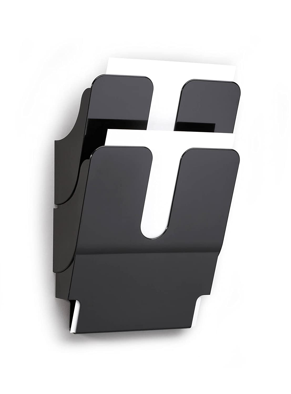 DURABLE - Flexiplus 6 A4, espositore da parete, f.to A4 verticale, 6 comparti, 247x1080x100 mm, bianco (cod. #1700008011)