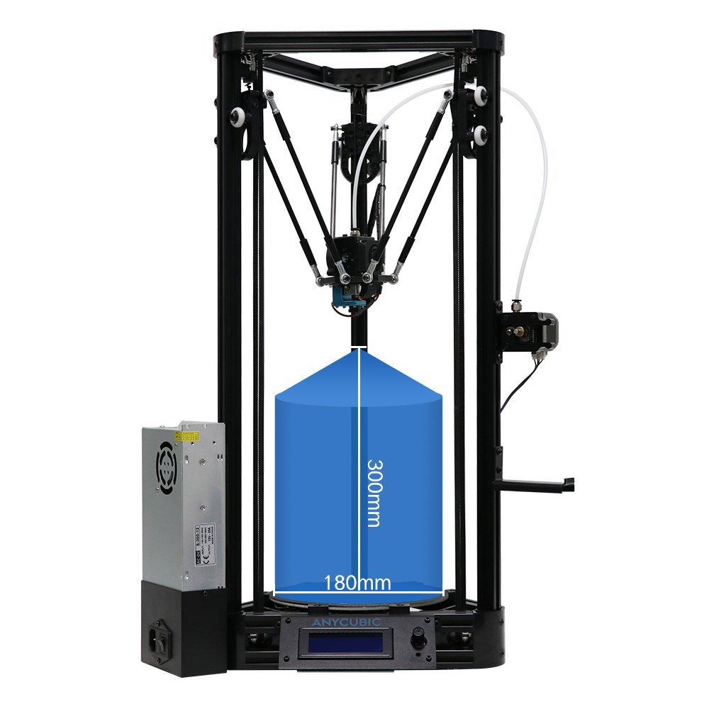 ANYCUBIC Delta 3D Printer Update Auto Leveling Pulley Version Modular Assembly