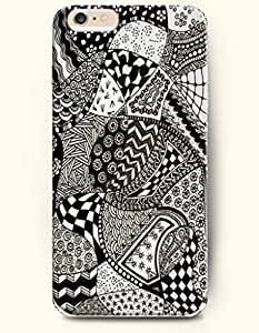 SevenArc Hard Phone Case for Apple iPhone 6 Plus ( iPhone 6 + )( 5.5 inches) - Tribal Fabric Pattern - Black And...