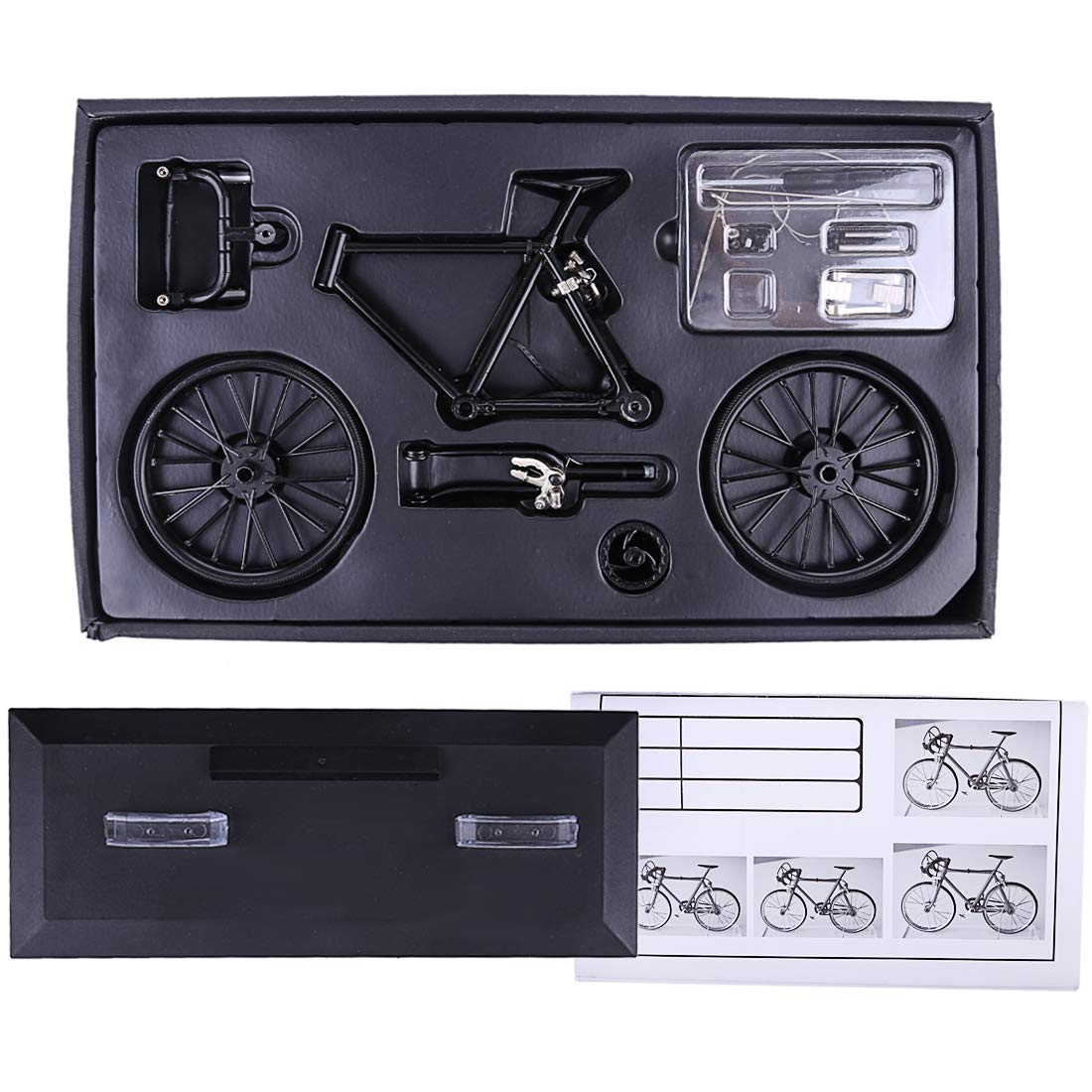DIY Bike Models Kits to Build with Display Stand 3D Puzzles for Kids Ages 8-12 RuiyiF Model Bicycle Zinc Alloy Desk Decorations