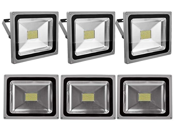 Leetop 6X 80W SMD LED Foco Proyector Focos LED Exterior Luz de ...