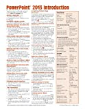 Microsoft PowerPoint 2013 Introduction Quick Reference Guide (Cheat Sheet of Instructions, Tips and Shortcuts - Laminated Card), Beezix Inc., 1936220873