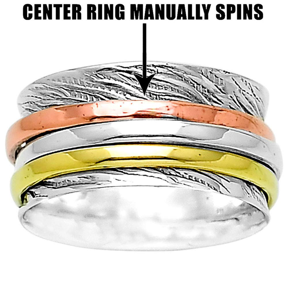 Desiregem Anti Anxiety and Worry Less Spinner Ring Spinning Size DGR1014 7