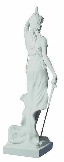 Figura decorativa Justitia Diosa de la Justicia Blanco Casa Decoración Oficina: Amazon.es: Hogar