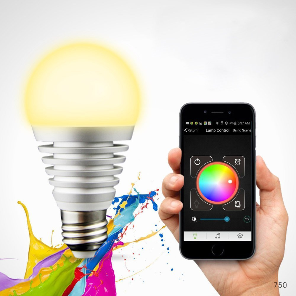 control lighting with iphone. lixada superlight bluetooth led rgb smart light e27 bulb smartphone controlled dimmable color changing lamp for iphone u0026 ipad android60w equivalent control lighting with iphone