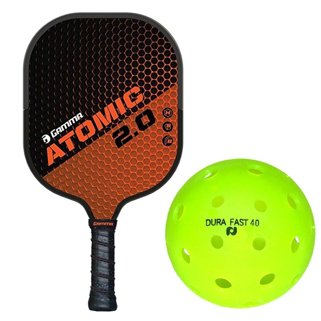 ガンマ2.0 Pickleballパドルキットまたはセットバンドルwith B07CJPX1DC aボックスof ( aボックスof 6 ) Durafast 40アウトドアPickleball Balls Balls B07CJPX1DC Atomic Atomic, かうかうひろば:0709e837 --- webshop.mrf.se