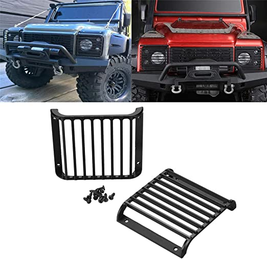 VIDOO 2Pc Luz Delantera Protectores Rejilla Pantalla para Traxxas TRX-4 TRX Land Rover Defender 1/10 RC Piezas De Coche