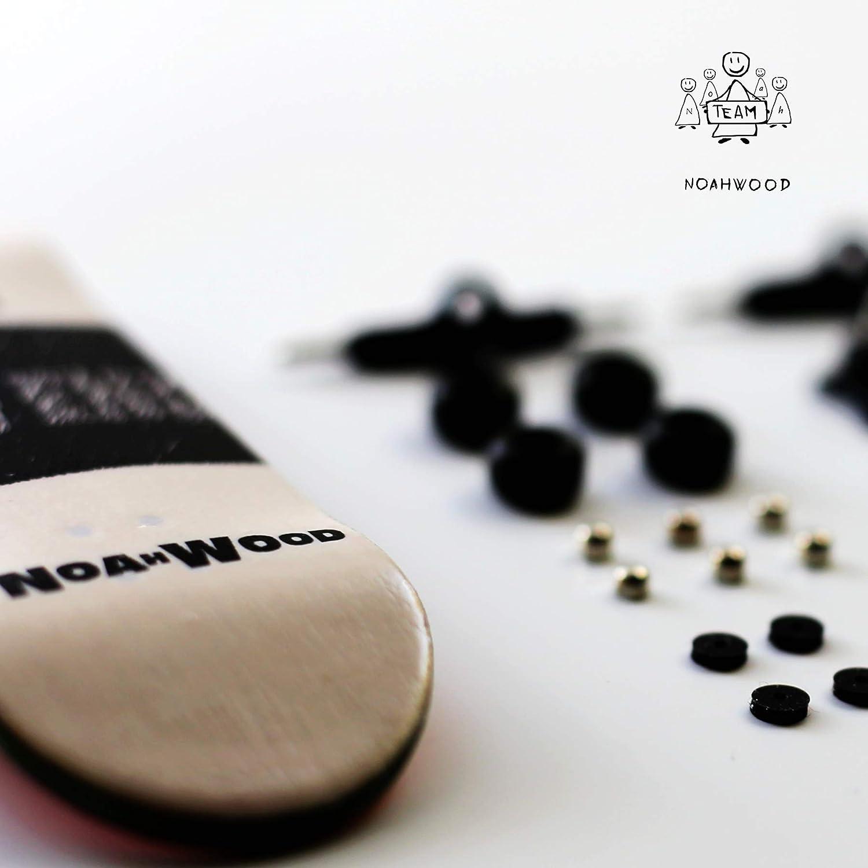 100 x 33mm, Oille NOAHWOOD Wooden PRO Fingerboards Noah Team 7.0 Kickflip Deck 33mm, White Trucks 34mm, Black Spherical Wheels no Logo