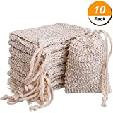 #1: BBTO 10 Pack Exfoliating Natural Sisal Soap Bag Pouch Soap Saver
