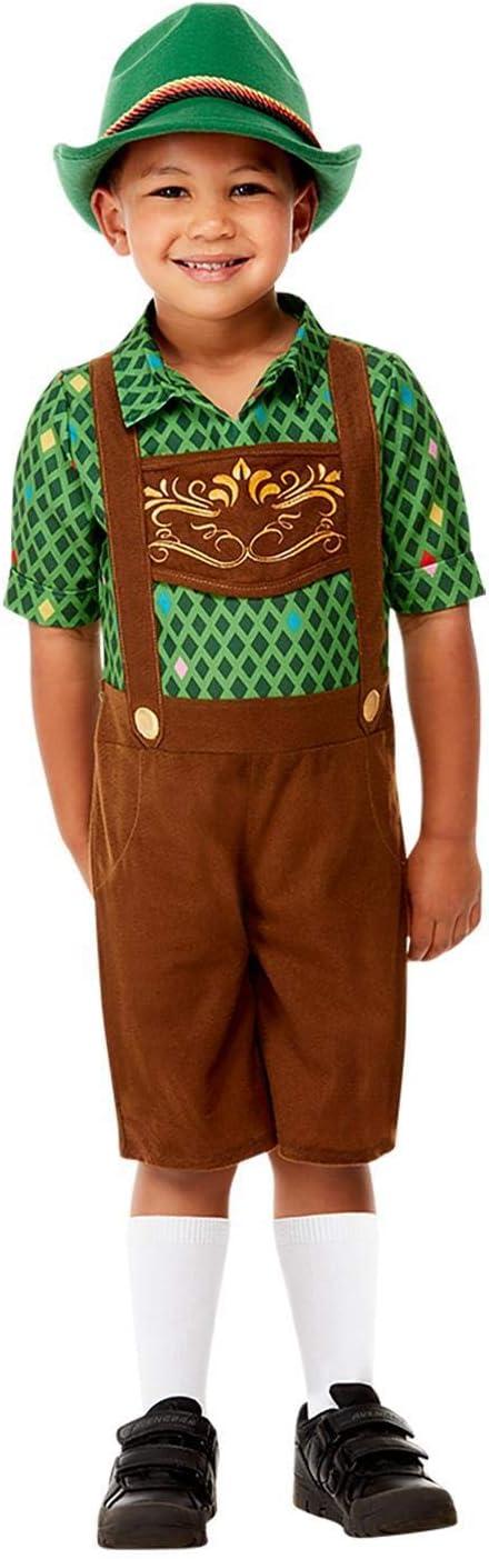 Smiffy's-Smiffys Toddler Hansel Costume Disfraz bebé, color marrón, Toddler-1-2 Years 71079T1
