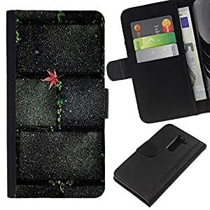 A-type (Textura de piedra de ladrillo Wall Street) Colorida Impresión Funda Cuero Monedero Caja Bolsa Cubierta Caja Piel Card Slots Para LG G2 D800