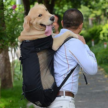 KEBY Zaino Porta Animali Traspirante a Doppia Spalla per Cani Blu Gatti e Cuccioli Zaino Porta Cane Marsupio Borse per Cani trasportino Zaino per Gatti Marsupio per Cani