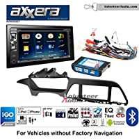 Volunteer Audio Axxera AVN6558BT Double Din Radio Install Kit with Navigation Bluetooth CD/DVD Player Fits 2015 Hyundai Sonata