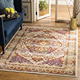 Safavieh Baldwin Collection BDN189A Ivory and Fuchsia Pink Vintage Bohemian Oriental Area Rug (8' x 10')