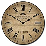 Cheap Barnwood Tan Wall Clock, Available in 8 Sizes, Most Sizes Ship 2-3 Days, Whisper Quiet.