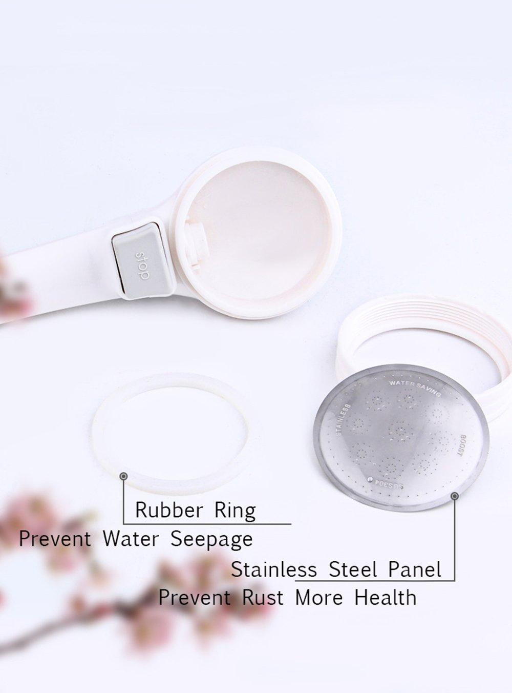 CherryKelly Cabezal de ducha de mano - Ahorro de agua a alta presiónalcachofa de ducha - Con botón de control ON/OFF - Plata: Amazon.es: Bricolaje y ...