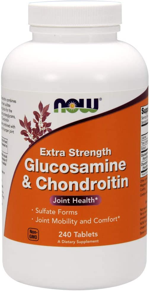 Now Supplements, Glucosamine & Chondroitin Extra Strength, Sulfate Forms, 240 Tablets