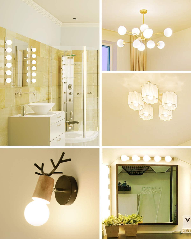 8 Pack Dimmable G25 Led Vanity Light Bulbs 60 Watt Equivalent Vanity Makeup Mirror Warm White