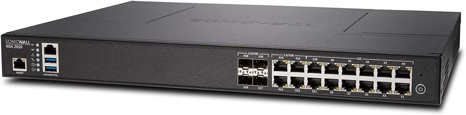 Sonicwall | NSA 2650 | 01-SSC-1936 | Security Appliance Firewall, Black