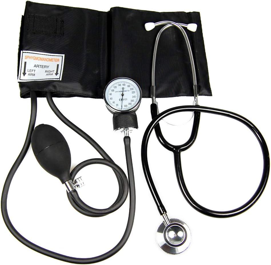 Valuemed Medical - Tensiómetro aneroide para medir la presión sanguínea. Incluye estetoscopio gratuito.