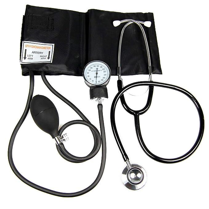 Valuemed Medical - Tensiómetro aneroide para medir la presión sanguínea. Incluye estetoscopio gratuito.: Amazon.es: Jardín