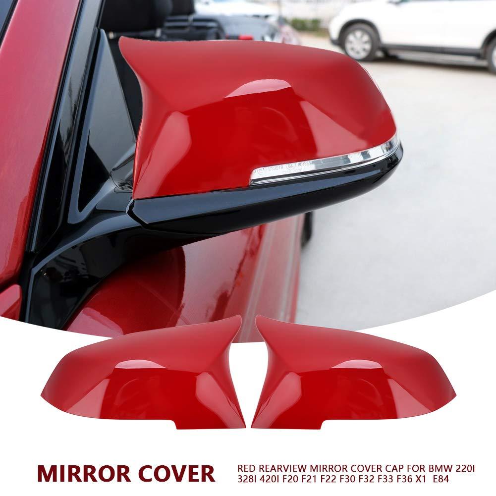 Copri Specchio Per Auto,1 paio di Tappi Copri Specchio Retrovisore per 220i 328i 420i F20 F21 F22 F30 F32 F33 F36 X1 E84