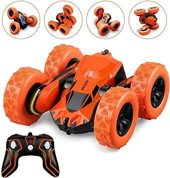 Sisit Stunt Car Toy,Xmas Stunt RC Car,Coche Teledirigido,Coches de Choque de Alta Velocidad del Truco RC,Batalla de Autos Chocadores,Motocicleta Recargable,Conjunto de 2