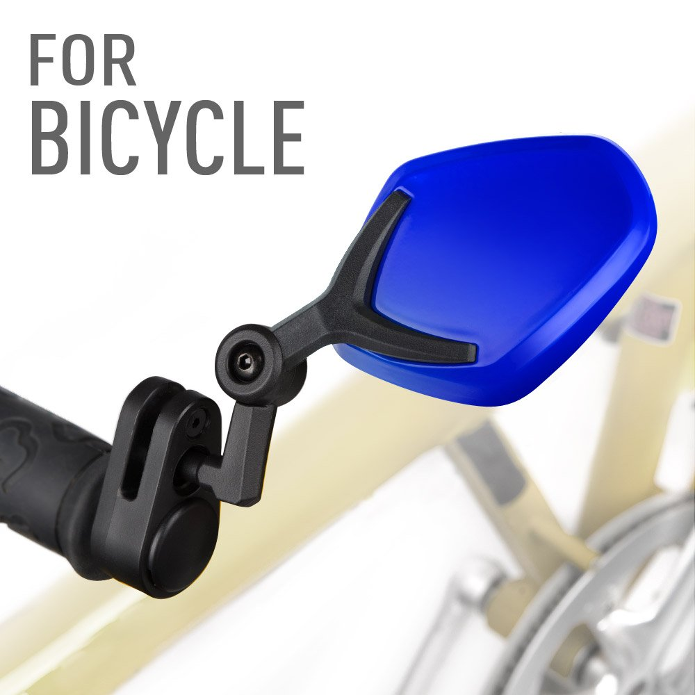 7e52b8fc54f Amazon.com: KiWAV Magazi bar end mirrors Petal blue for bicycle handlebar 7/ 8
