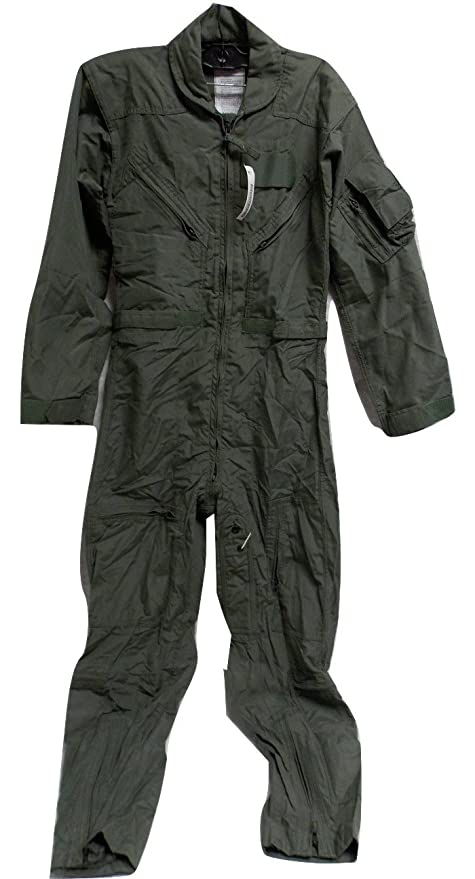 b94ab27807 USGI MILITARY ISSUE NOMEX FLYER S COVERALLS SUMMER SAGE GREEN 34 R CWU 27 P  - - Amazon.com